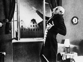 A scene from the film 'Nosferatu'