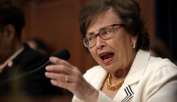 House Appropriations Committee Chair Nita Lowey, D-N.Y., speaks during a Senate hearing in Washington D.C.,  March 27, 2019.