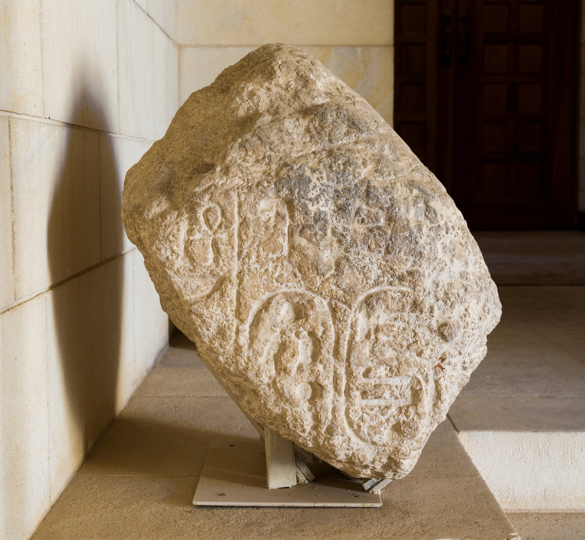 Sheshonq's name carved into a block of stone, possibly part of a victory stele, found in Megiddo, northern Israel