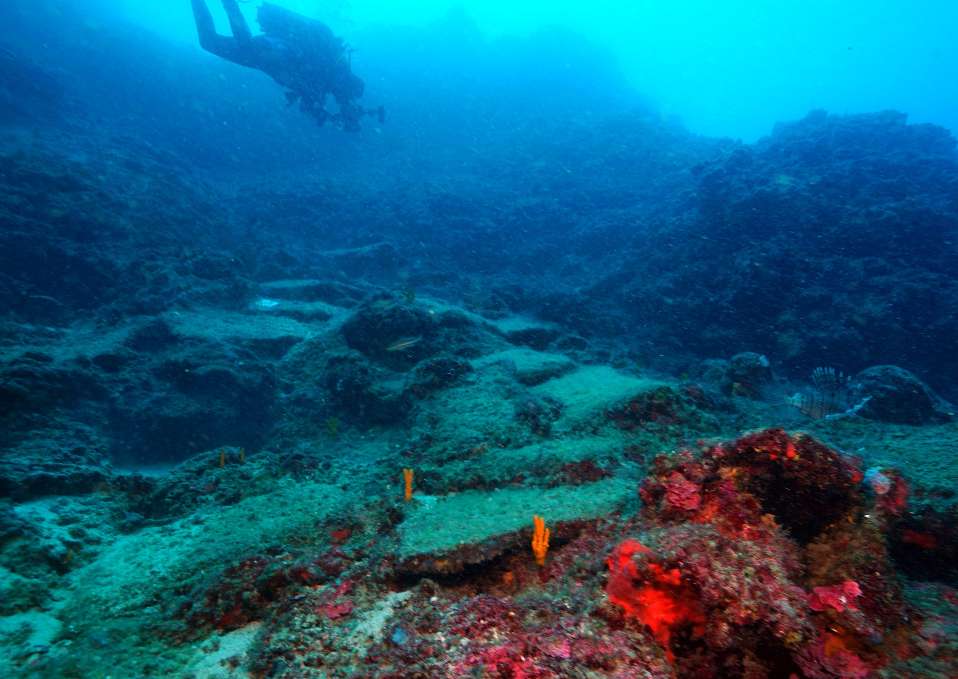 Copper ingots lying on the seabed by Antalya