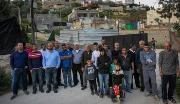 Residents of the Wadi Yetzol section of East Jerusalem's Silwan whose homes were built without a permit, Israel, April 13, 2019.