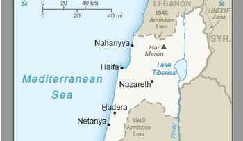Trump administration's new map of Israel including the Golan Heights.