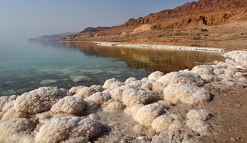 The Dead Sea, from the Jordanian side