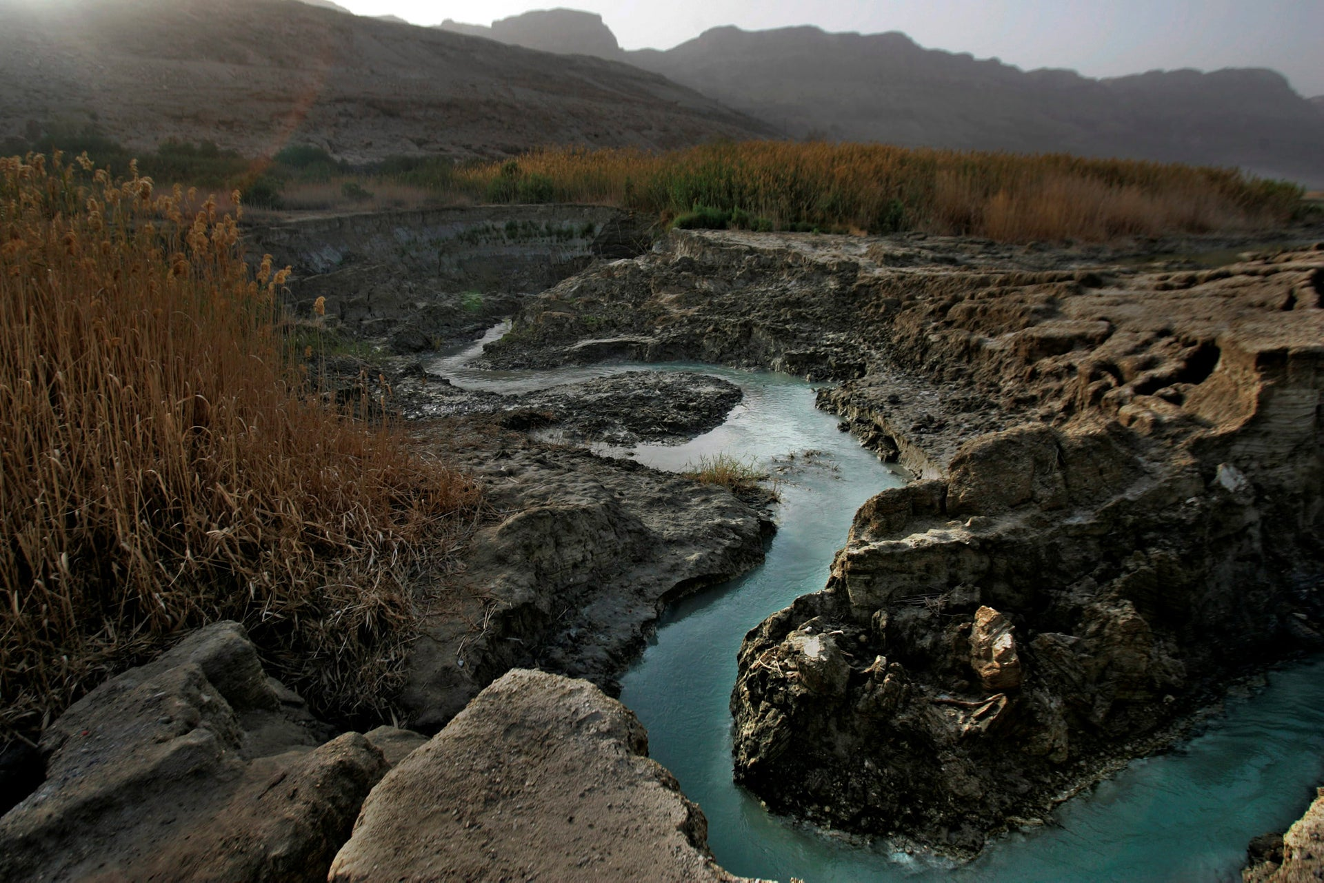 The water sources to the Dead Sea have dramatically diminshed