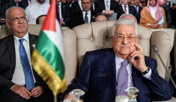 Palestinian President Mahmoud Abbas attends the the Arab Summit in Tunis, Tunisia, March 31, 2019.