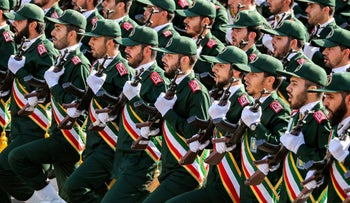 File photo: Members of Iran's Revolutionary Guards Corps march during a military parade in the capital Tehran, September 22, 2018.