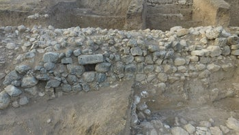 The recently uncovered wall at Tel Lachish, which was dated to the late 10th century B.C.E.