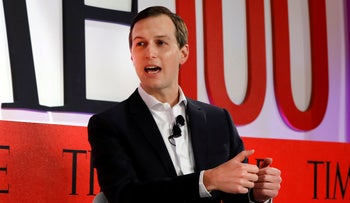 Jared Kushner speaks during the TIME 100 Summit, in New York, April 23, 2019.