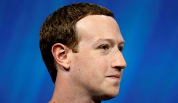 File Photo: Facebook's founder and CEO Mark Zuckerberg speaks in Paris, France, May 24, 2018.