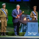 The Independence Day torch-lighting ceremony in Jerusalem, April 2018, where Prime Minister Benjamin Netanyahu was one of the 12 flame lighters.