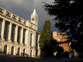 File photo: Buildings on the University of California campus in Berkeley, Calif., December, 2014.