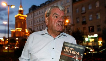 File photo: David Irving, the British Holocaust denier, speaks to Reuters during an interview in Warsaw, September 21, 2010.
