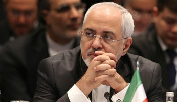 Iran's Foreign Minister Mohammad Javad Zarif attends a meeting of Foreign Ministers in Istanbul, Turkey on December 13, 2017.