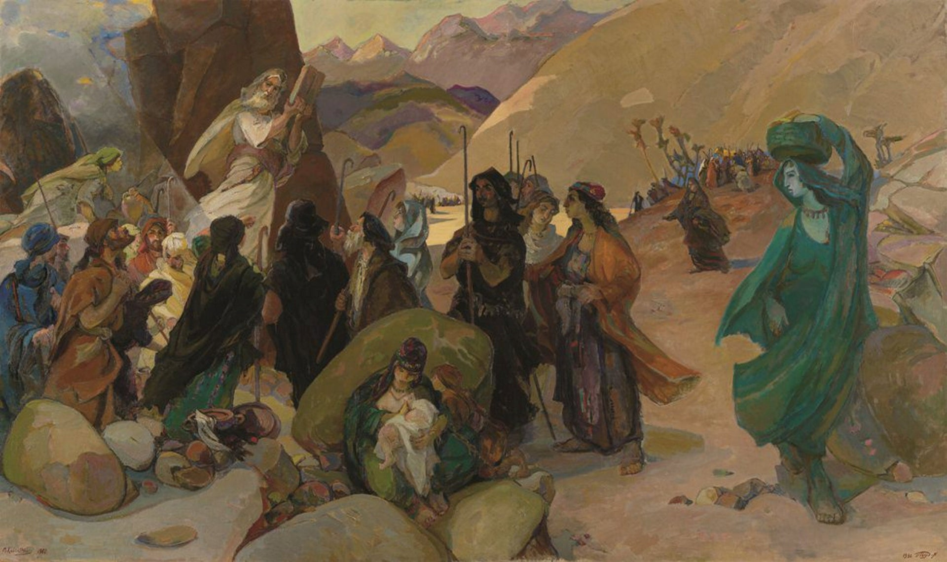 """A painting depicting the Jewish Exodus out of Egypt. Does the story actually refer to bursting out of the """"matrix?"""""""