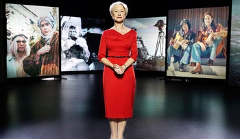 """Documentary Now!"" presenter Dame Helen Mirren. Her perfect British accent and straight-faced gravitas complete the smokescreen."