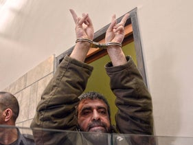 Sidqi al-Maqt at the time of his arrest, Nazareth, 2015.