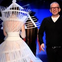 Designer Jean Paul Gaultier appears at the end of his Haute Couture Spring-Summer 2019 collection show in Paris, France, January 23, 2019.