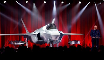 Turkish Major General Reha Ufuk Er takes delivery of its first F-35 fighter jet with a ceremony at the Lockheed Martin in Texas, June 21, 2018