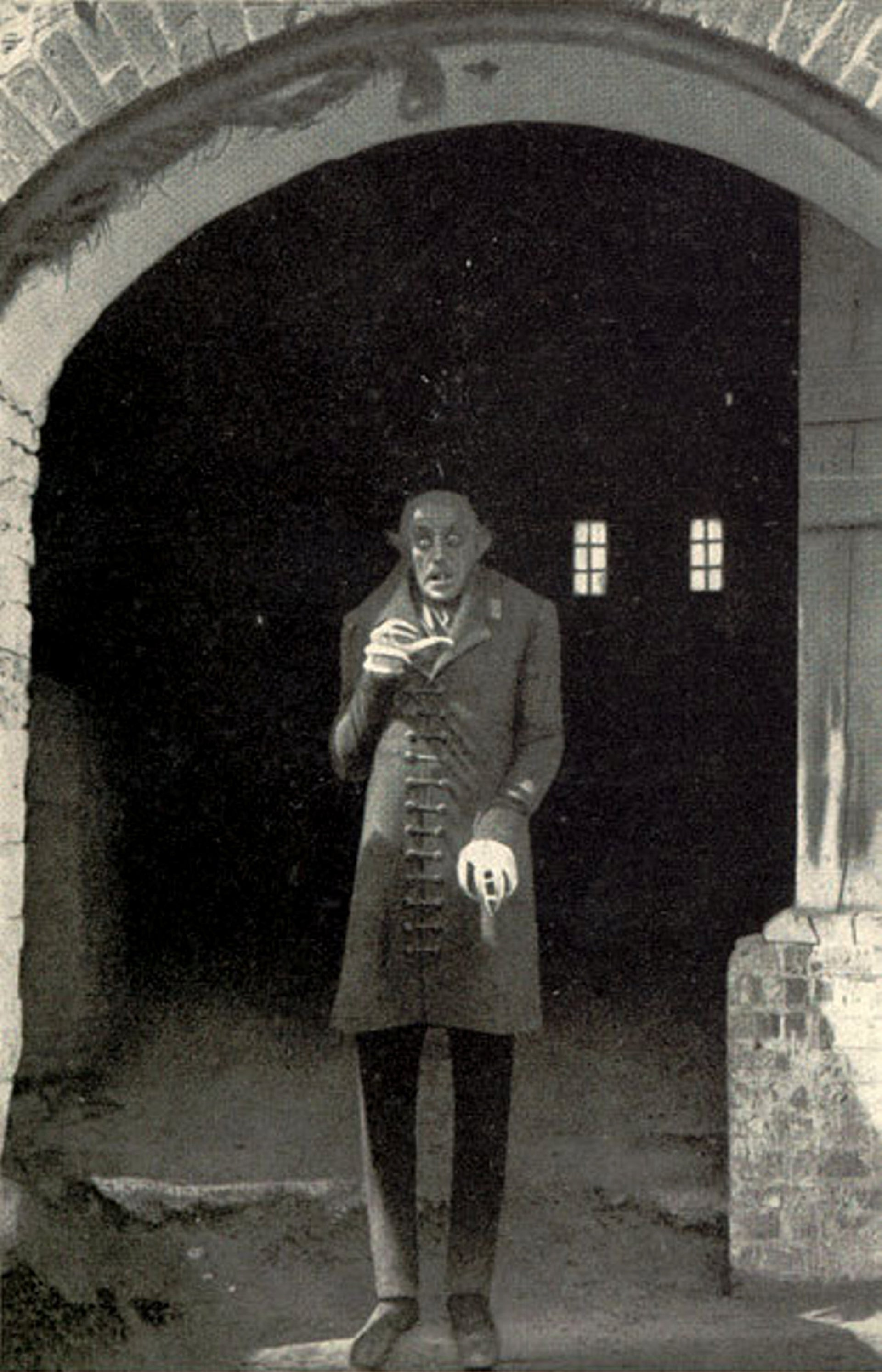 The modern-day vampire in the 1922 silent horror film Nosferatu. Shown here is Max Schreck as Count Orlok