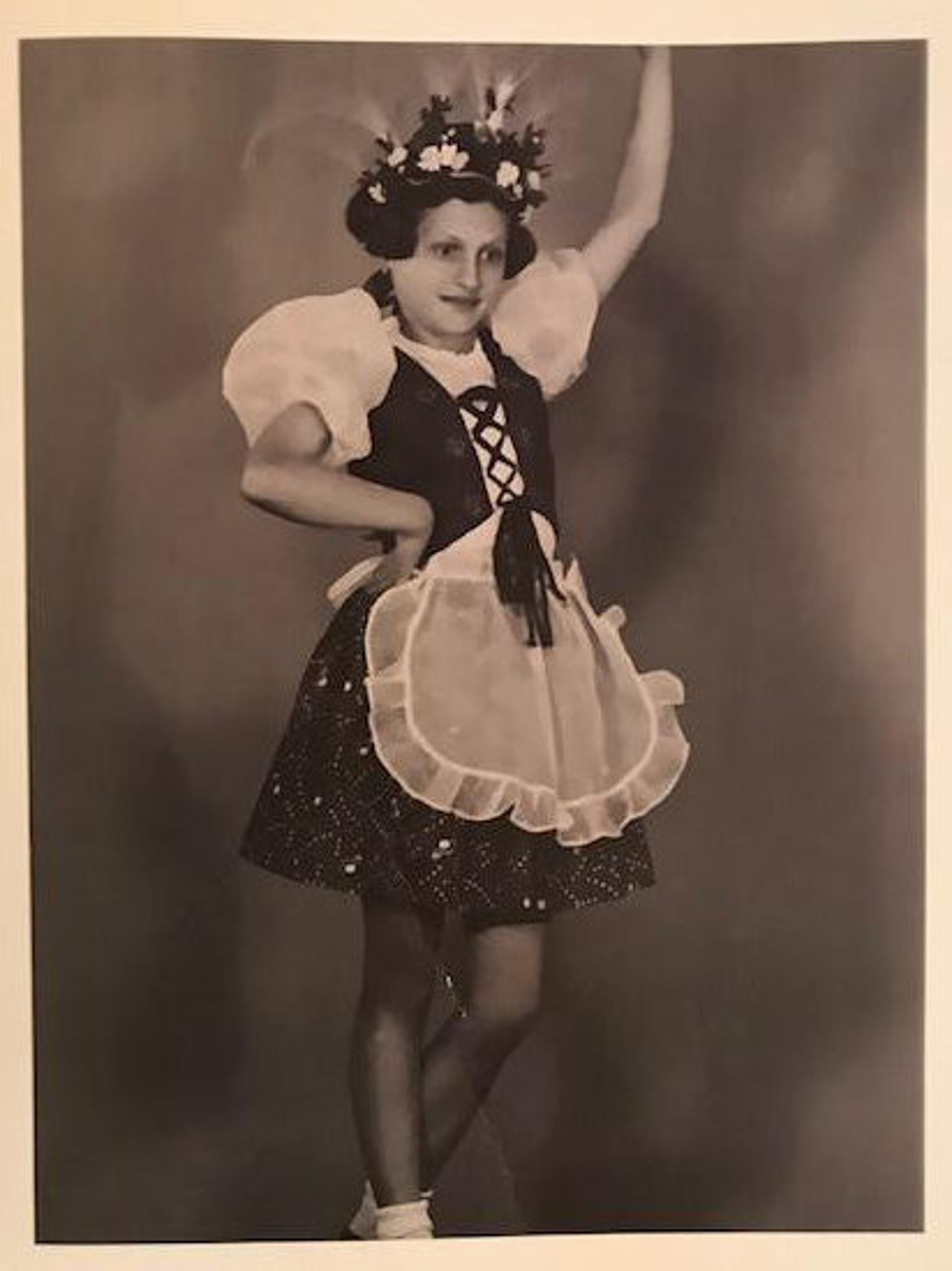 Judit Ornstein wearing a dance outfit as a child. Paul Ornstein wrote in his memoir that Judit loved to dance.