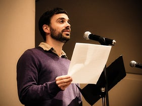 """Michael David Lukas, reading at the Contemporary Jewish Museum in San Francisco in 2014, won for """"The Last Watchman of Old Cairo."""""""