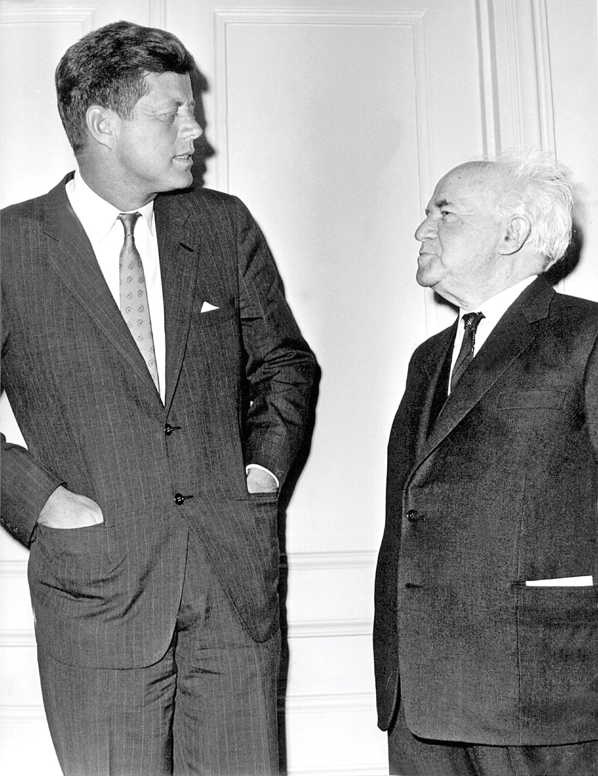 Kennedy and Ben-Gurion.