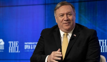 U.S. Secretary of State Mike Pompeo speaks during a discussion on the major foreign policy priorities of the State Department in Washington, D.C., on April 29, 2019.