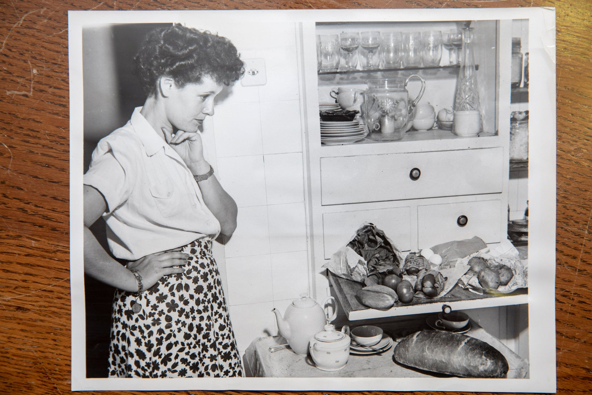 Mrs. Steiner in her kitchen in Tel Aviv during the years of austerity, December 6, 1949.