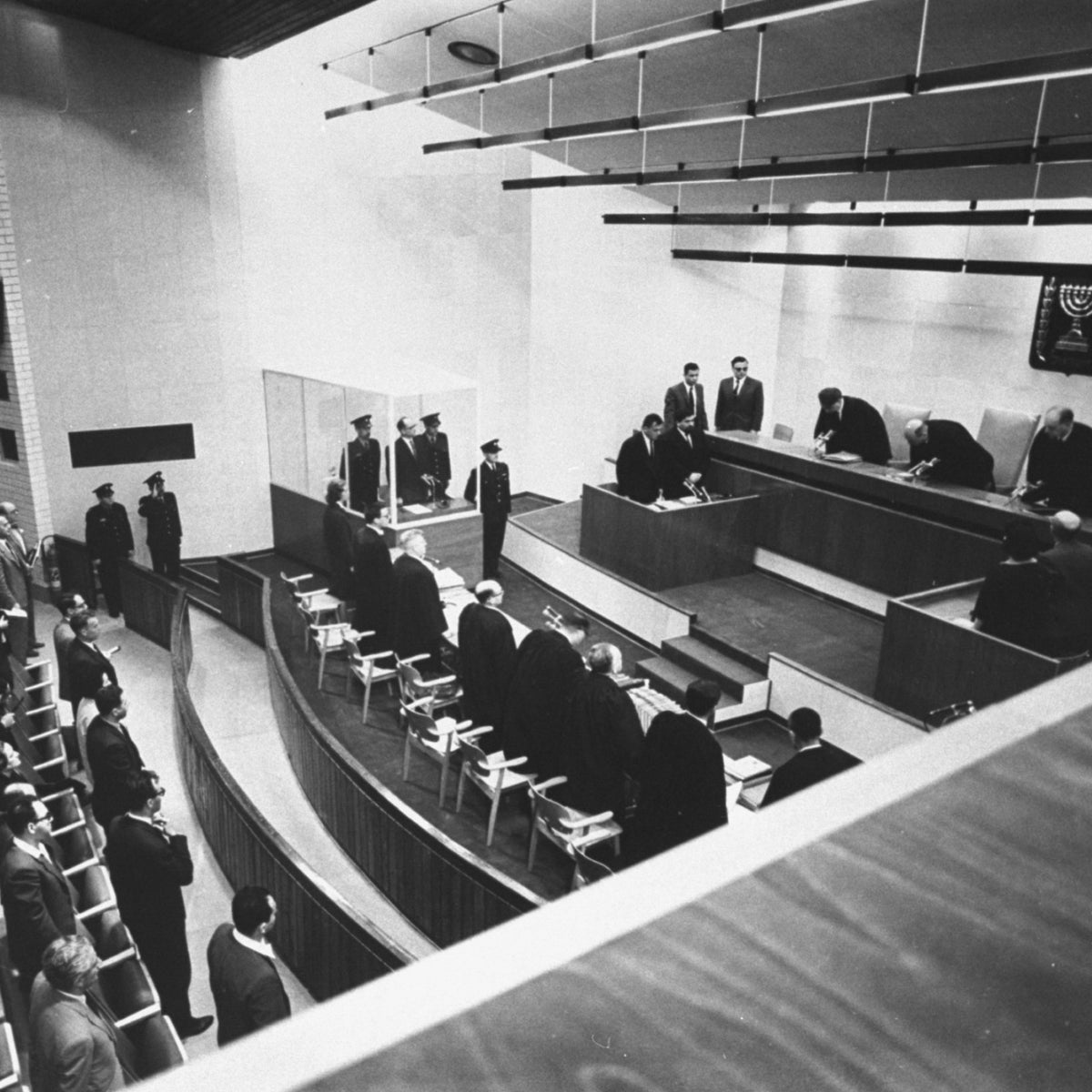 The Eichmann trial, 1961.