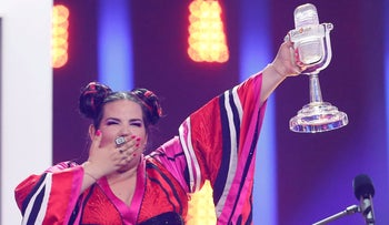 Netta Barzilai after her Eurovision victory, Lisbon, May 12, 2018.