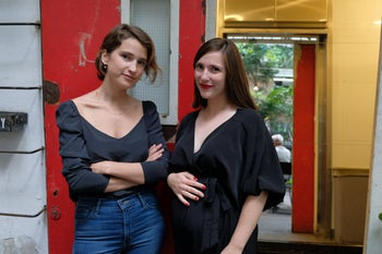 Sarah Peguine, left, and Michal Freedman. 'We feel that we have power, together'