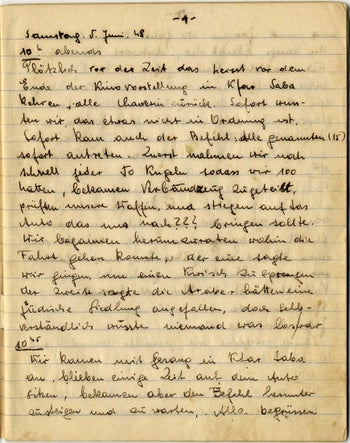 The first page of Keler's wartime diary.