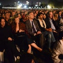 The audience at the joint Israeli-Palestinian Memorial Day ceremony held in Tel Aviv, on Tuesday, May 7, 2019.