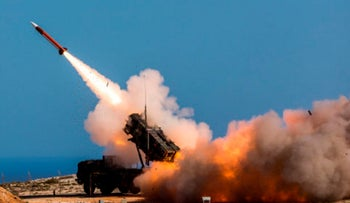 File photo: German soldiers fire the Patriot weapons system at the NATO Missile Firing Installation, in Chania, Greece, November 8, 2017.