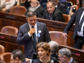 Avi Gabbay at the Knesset swearing-in ceremony, Jerusalem, April 30, 2019.