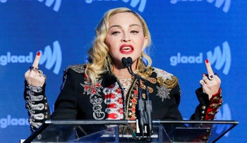 Madonna at the 30th annual GLAAD Media Awards at the New York Hilton Midtown on Saturday, May 4, 2019