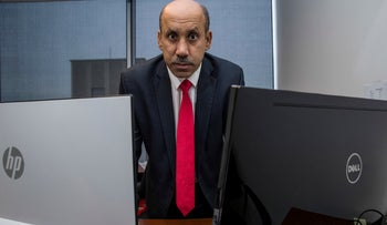 File photo: Saudi dissident Ali AlAhmed poses for a photograph in his office in Washington, October 26, 2018.