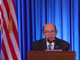 File photo: U.S. commerce secretary Wilbur Ross speaks at the 11th Trade Winds Business Forum and Mission hosted by the US Department of Commerce, in New Delhi, India, May 7, 2019.