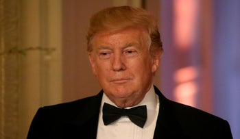 File photo: U.S. President Donald Trump hosts the White House Historical Association Dinner at the White House in Washington, U.S., May 15, 2019.