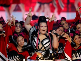 Last year's winner of the 2018 Eurovision Song Contest, Netta Barzilai of Israel, performs during the first semi-final of 2019 Eurovision Song Contest in Tel Aviv, Israel May 14, 2019