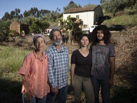 The Yaaran family (Bar, Avishai, daughter Ei and her partner Oren Shoshana). They spent more than 20 years fighting the Israeli bureaucracy to legalize their goat farm.