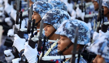 File photo: Soldiers take part in a military parade to mark the 74th Armed Forces Day in the capital Naypyitaw, Myanmar, March 27, 2019.