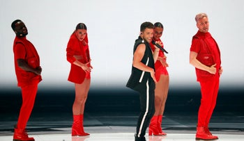 Eurovision 2019: The Swedish delegation performs in the second semi-final, May 16, 2019.