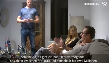 Screenshot showing Austrian vice-Chancellor Hans-Christian Strache in leaked video.