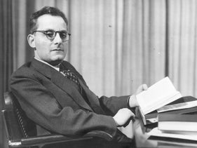 Czech born Austrian writer Max Brod, the friend, biographer and editor of Franz Kafka who was responsible for ensuring that Kafka's work was published after his early death, circa 1937.