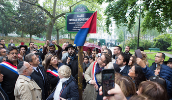Paris Mayor Anne Hidalgo attended a ceremony honoring the victims of the 2012 Toulouse Jewish school shooting. Two alleys in the city were named after the three victims.