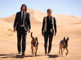 """Keanu Reeves, left, and Halle Berry in a scene from """"John Wick: Chapter 3 - Parabellum."""""""
