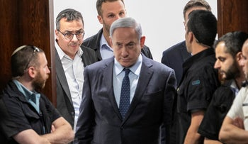 Prime Minister Benjamin Netanyahu at the Knesset, May 21, 2019.