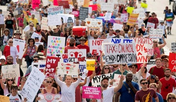 March for Reproductive Freedom against Alabama's new abortion law, Montgomery, Alabama, U.S. May 19, 2019.