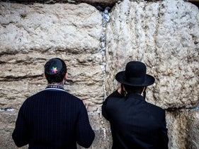 FILE Photo: A LGBT Jewish delegation to Israel visits the Western Wall in Jerusalem, May 5, 2016.